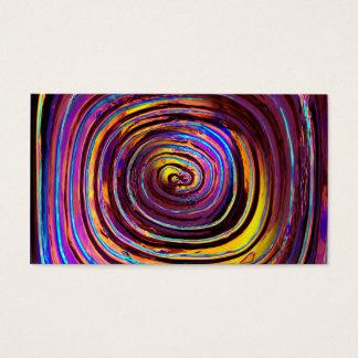Lit de néon vidro moldado cartão de visitas