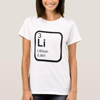 Lítio - mesa periódica camiseta