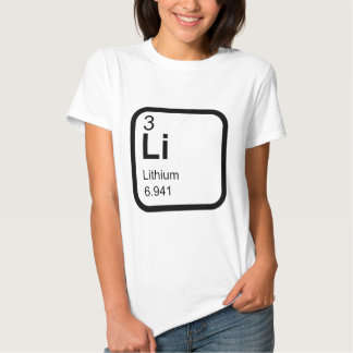 Lítio - mesa periódica tshirts