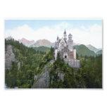 Litografia do castelo de Neuschwanstein Foto