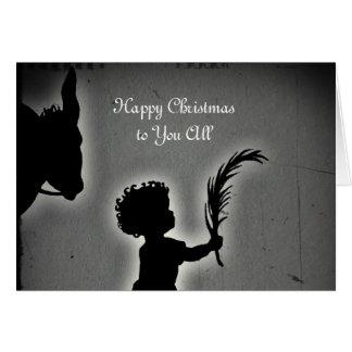 Little Boy com um ramo da palma Cartão Comemorativo