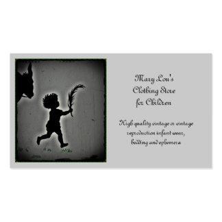 Little Boy com um ramo da palma Cartão De Visita