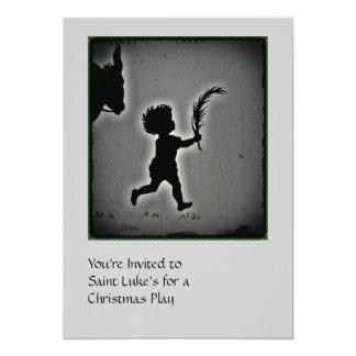 Little Boy com um ramo da palma Convite 12.7 X 17.78cm