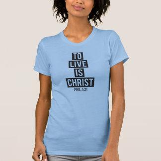 Live é a camisa do cristo camiseta