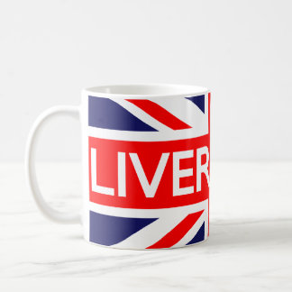 Liverpool: Bandeira britânica Caneca De Café