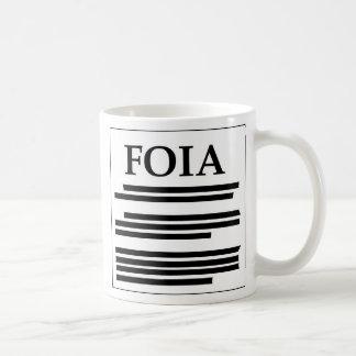 Livrado do ato da informação caneca de café