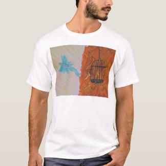 Livre ajustado do pássaro camiseta
