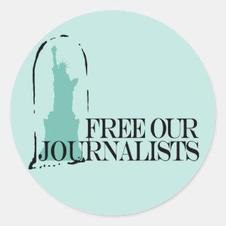 Livre nossos journalistas adesivo