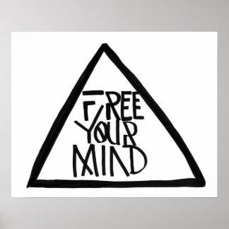 Livre sua mente poster