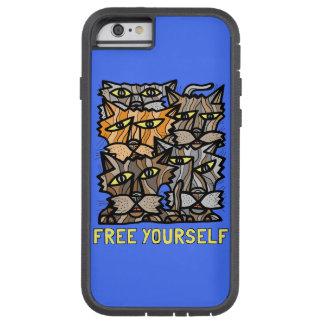 """""""Livre você mesmo"""" capa de telefone resistente de"""