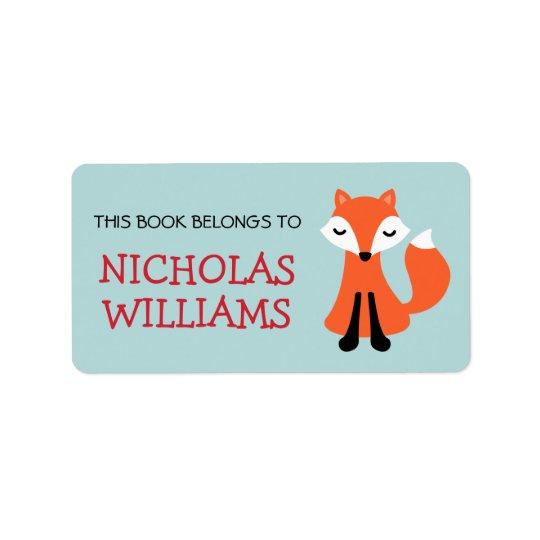 Livro animal do bookplate dos desenhos animados bo etiqueta de endereço