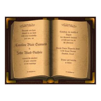 """"""" livro antigo do couro do vintage 6.5x8.75 que convite 16.51 x 22.22cm"""
