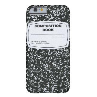 Livro da composição capa barely there para iPhone 6