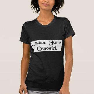 Livro da lei de cânone t-shirt