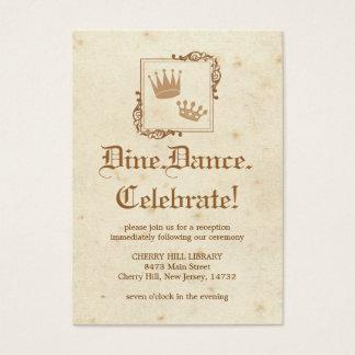 Livro de histórias real - cartão da recepção