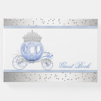 Livro de hóspedes azul da princesa festa de