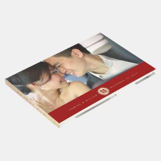 Livro de hóspedes chinês do casamento da