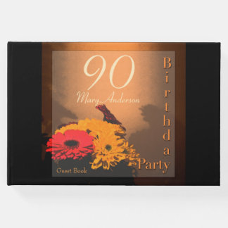 Livro de hóspedes da festa de aniversário do 90 do