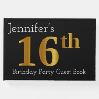 Livro de hóspedes da festa de aniversário do ouro