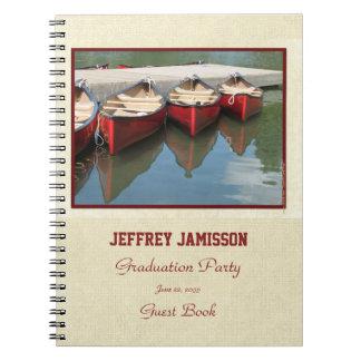 Livro de hóspedes da festa de formatura, canoas caderno espiral