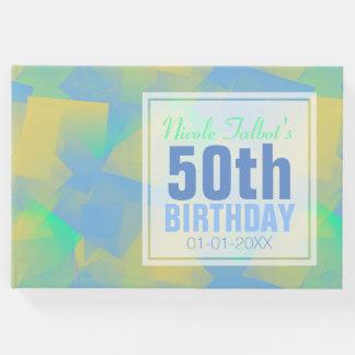 Livro de hóspedes do aniversário do pastel