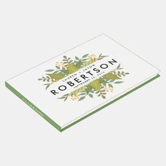 Livro de hóspedes do casamento, Boho floral,