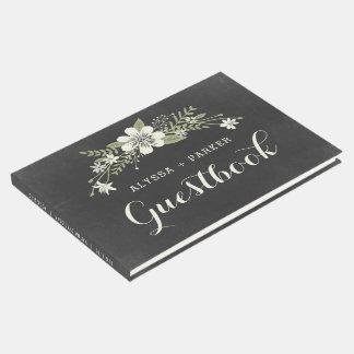 Livro de hóspedes do casamento da flor do quadro
