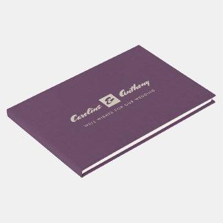 Livro de hóspedes do casamento da textura de