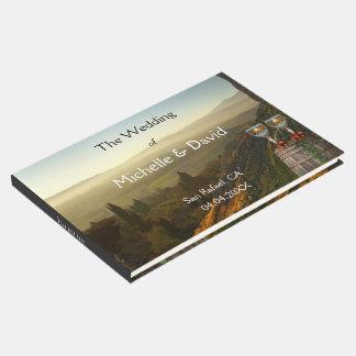 Livro de hóspedes do casamento do tema do vinho da