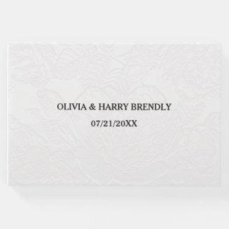 Livro de hóspedes do casamento - floral branco