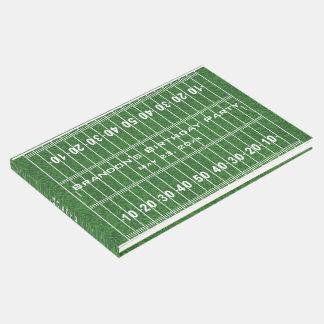 Livro de hóspedes do design do campo de futebol