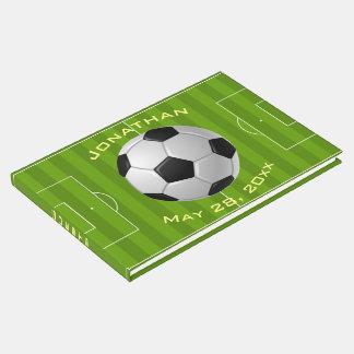 Livro de hóspedes do design do futebol