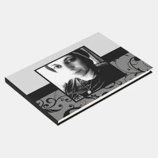 livro de hóspedes do funeral do damasco