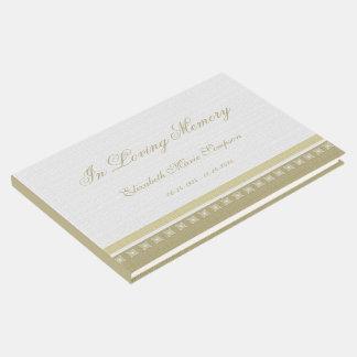 Livro de hóspedes elegante do memorial ou do