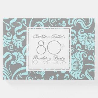 Livro de hóspedes floral da festa de aniversário
