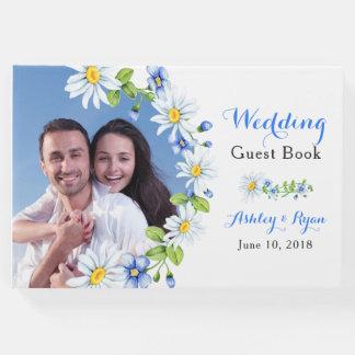 Livro de hóspedes floral do casamento da margarida