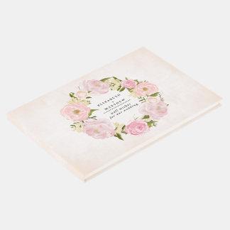 Livro de hóspedes floral do casamento da pintura