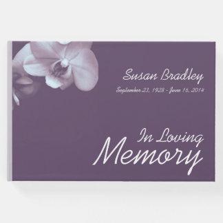 Livro de hóspedes floral do funeral da fotografia