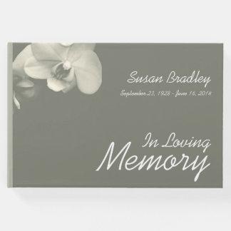 Livro de hóspedes floral do funeral do caqui da