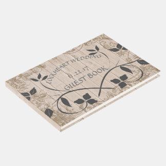 Livro de hóspedes floral rústico do casamento