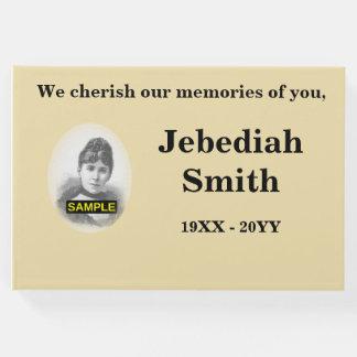 Livro de hóspedes fúnebre/memorável básico e