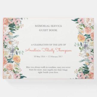 Livro de hóspedes fúnebre memorável dos rosas da