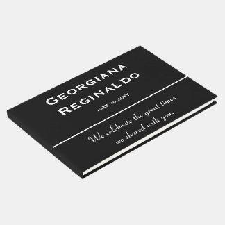 Livro de hóspedes fúnebre mínimo e respeitável