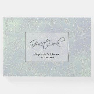 Livro de hóspedes iridescente chique do casamento
