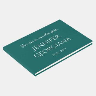 Livro de hóspedes memorável básico, simples