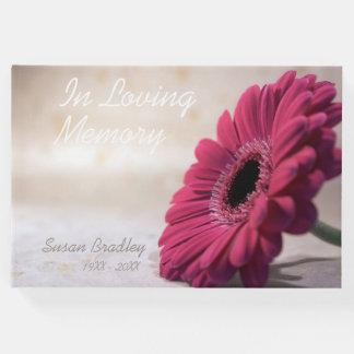 Livro de hóspedes memorável fúnebre da relembrança