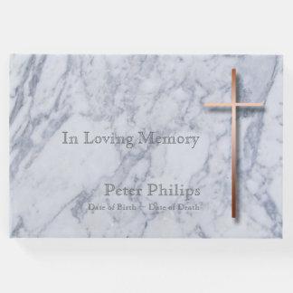 Livro de hóspedes memorável fúnebre de mármore