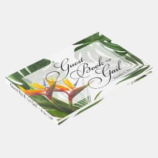 Livro de hóspedes para Gail - folhas tropicais