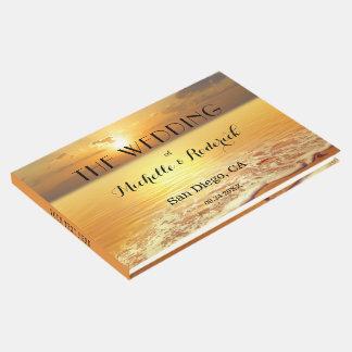 Livro de hóspedes personalizado por do sol do