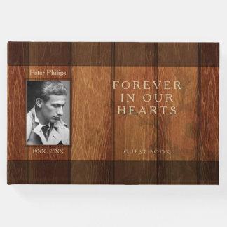 Livro de hóspedes rústico do memorial do quadro de